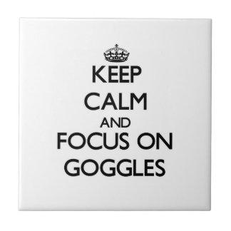 Guarde la calma y el foco en gafas