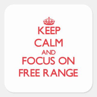 Guarde la calma y el foco en gama libre