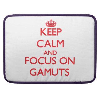 Guarde la calma y el foco en gamas fundas macbook pro