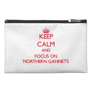 Guarde la calma y el foco en Gannets septentrional