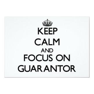 Guarde la calma y el foco en garante comunicados