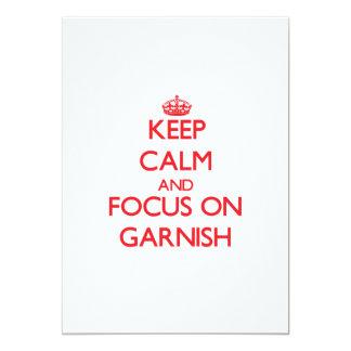 Guarde la calma y el foco en Garnish Comunicados