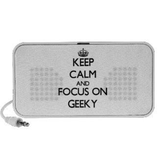 Guarde la calma y el foco en Geeky Mini Altavoz