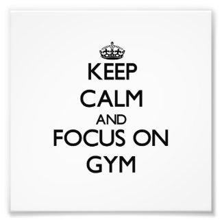 Guarde la calma y el foco en gimnasio