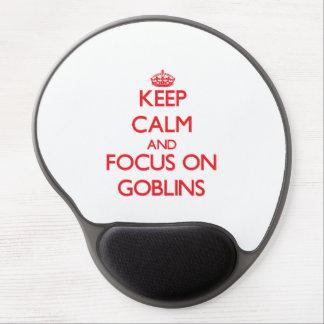 Guarde la calma y el foco en Goblins Alfombrilla De Raton Con Gel
