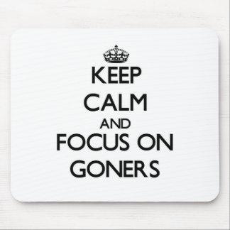 Guarde la calma y el foco en Goners Alfombrilla De Ratón
