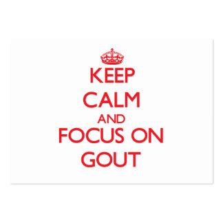 Guarde la calma y el foco en Gout Plantilla De Tarjeta De Negocio