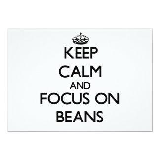 Guarde la calma y el foco en habas comunicados