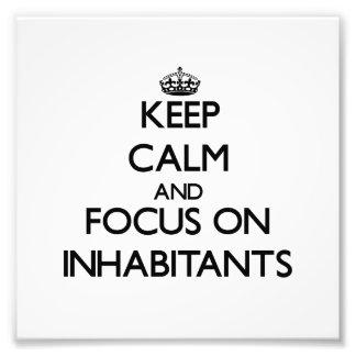 Guarde la calma y el foco en habitantes