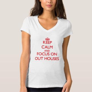 Guarde la calma y el foco en hacia fuera casas playera