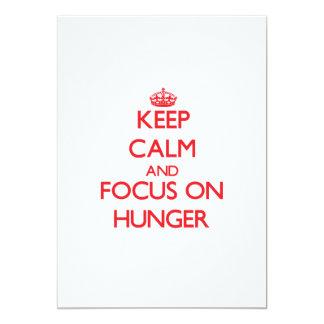 Guarde la calma y el foco en hambre comunicados personalizados