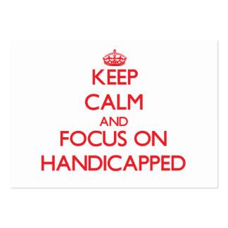 Guarde la calma y el foco en Handicapped