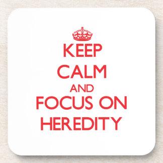 Guarde la calma y el foco en herencia