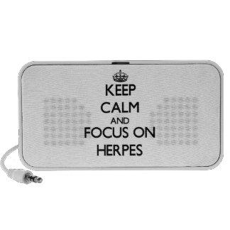 Guarde la calma y el foco en herpes