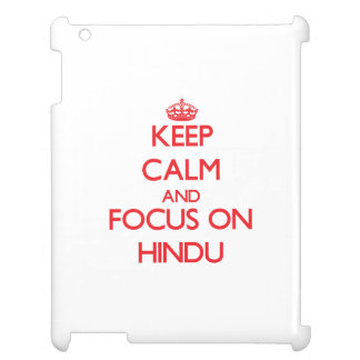 Guarde la calma y el foco en hindú