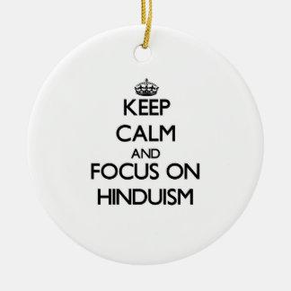 Guarde la calma y el foco en Hinduism Adorno