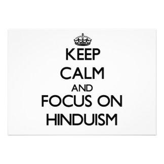 Guarde la calma y el foco en Hinduism Invitación Personalizada