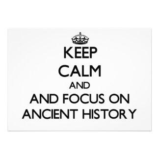 Guarde la calma y el foco en historia antigua anuncios