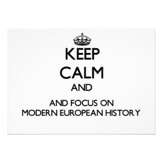 Guarde la calma y el foco en historia europea comunicado