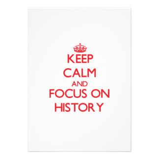 Guarde la calma y el foco en historia comunicado