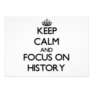 Guarde la calma y el foco en historia anuncio