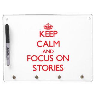 Guarde la calma y el foco en historias