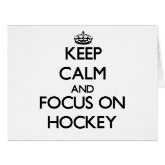 Guarde la calma y el foco en hockey