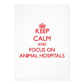 Guarde la calma y el foco en hospitales invitacion personal