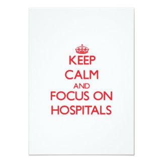"""Guarde la calma y el foco en hospitales invitación 5"""" x 7"""""""