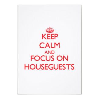 Guarde la calma y el foco en Houseguests Anuncio Personalizado