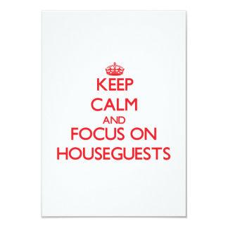 Guarde la calma y el foco en Houseguests Invitacion Personalizada