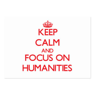 Guarde la calma y el foco en humanidad plantilla de tarjeta personal