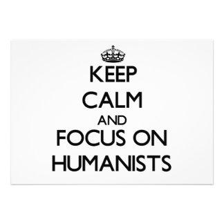 Guarde la calma y el foco en humanistas