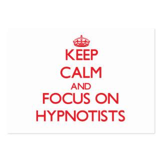 Guarde la calma y el foco en Hypnotists Tarjeta De Visita