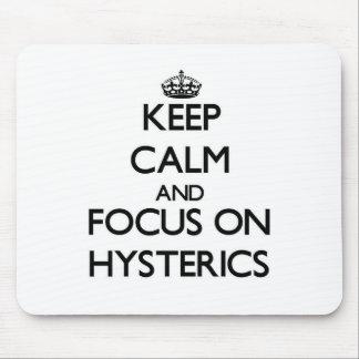 Guarde la calma y el foco en Hysterics Mouse Pad