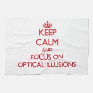 Guarde la calma y el foco en ilusiones ópticas