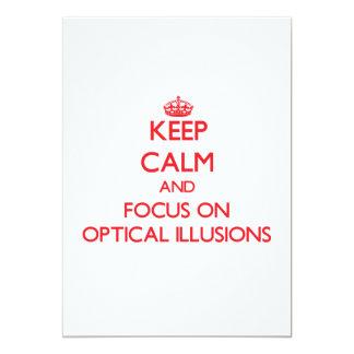 guarde la calma Y EL FOCO EN ilusiones ópticas Comunicados