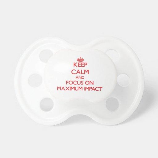 Guarde la calma y el foco en impacto máximo chupetes para bebés