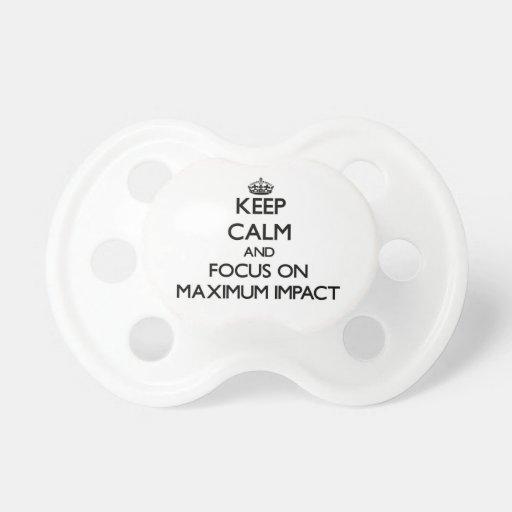 Guarde la calma y el foco en impacto máximo chupetes para bebes