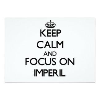 Guarde la calma y el foco en Imperil Invitación Personalizada