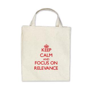Guarde la calma y el foco en importancia bolsas de mano