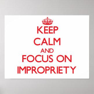 Guarde la calma y el foco en impropiedad