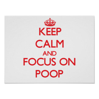 Guarde la calma y el foco en impulso póster
