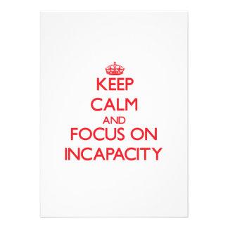 Guarde la calma y el foco en incapacidad