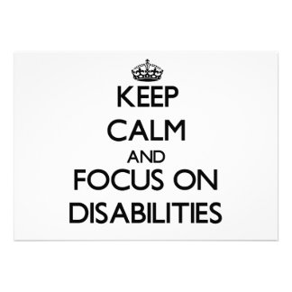 Guarde la calma y el foco en incapacidades