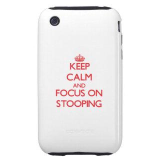 Guarde la calma y el foco en inclinarse iPhone 3 tough protector