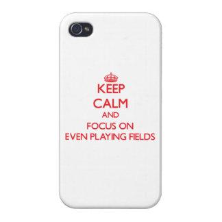 Guarde la calma y el foco en incluso terrenos de j iPhone 4 protector