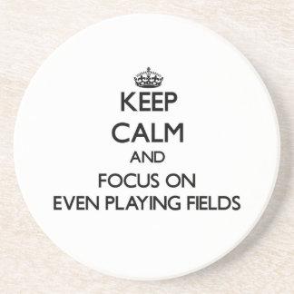 Guarde la calma y el foco en incluso terrenos de j posavasos personalizados