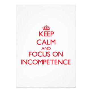 Guarde la calma y el foco en incompetencia