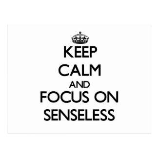 Guarde la calma y el foco en inconsciente postal